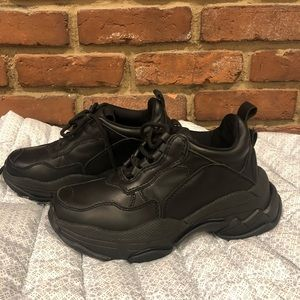 Jeffrey Campbell Lo-Fi Sneakers Black Leather